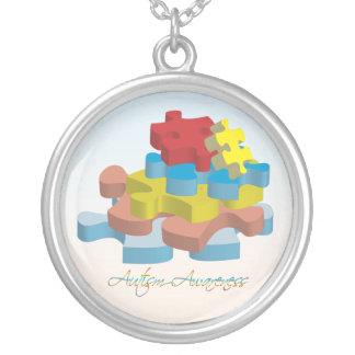 Autism Awareness Puzzle Pieces Necklace