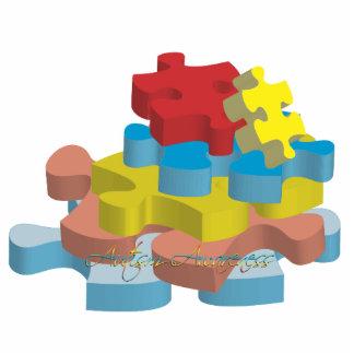 Autism Awareness Puzzle Pieces Photo Sculpture