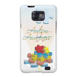 Autism Awareness Puzzle Pieces Samsung Galaxy S2 Galaxy SII Cases