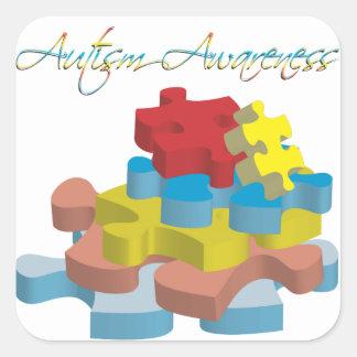 Autism Awareness Puzzle Pieces Sticker
