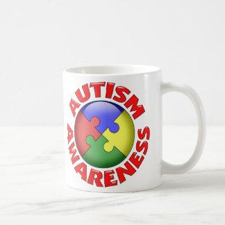 Autism Awareness Puzzle Pinwheel Coffee Mug