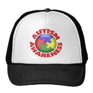 Autism Awareness Puzzle Pinwheel Trucker Hat