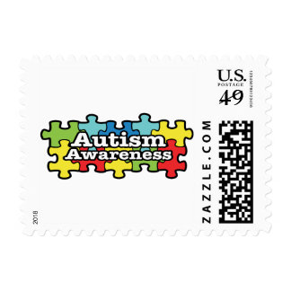 Autism Awareness Puzzle Postage Stamps