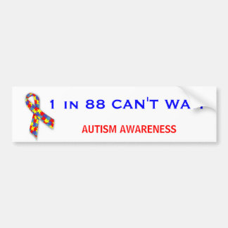 Autism Awareness Puzzle Ribbon Bumper Stickers