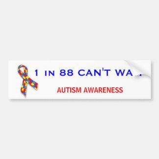 Autism Awareness Puzzle Ribbon Car Bumper Sticker