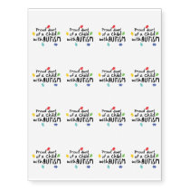Autism Awareness Puzzle Ribbon Gift Kids Mom Dad Temporary Tattoos