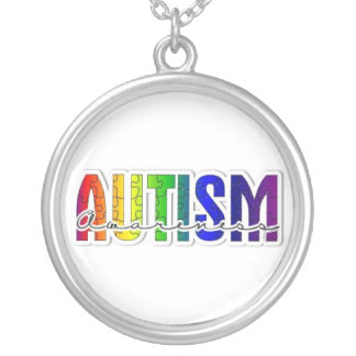 Autism Awareness Puzzle Silver Plated Necklace