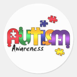 Autism Awareness Puzzle Stickers