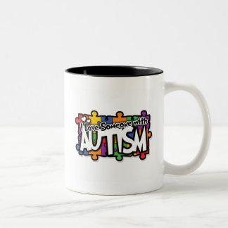 Autism Awareness Puzzle Two-Tone Coffee Mug