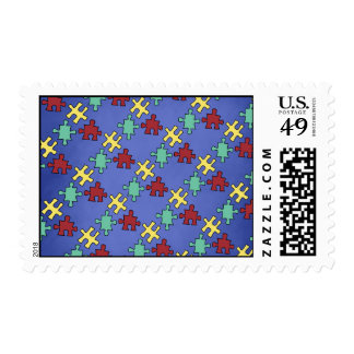 Autism Awareness Puzzle: US Postage Stamps