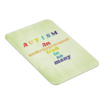 Autism Awareness Rainbow Fridge Magnet