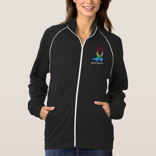 Autism Awareness Rainbow Puzzle Ribbon Jacket