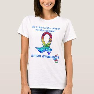 Autism Awareness Rainbow Puzzle Ribbon T-Shirt