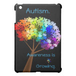 Autism Awareness Rainbow Puzzle Tree iPad Mini Cases