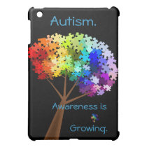 Autism Awareness Rainbow Puzzle Tree iPad Mini Cover
