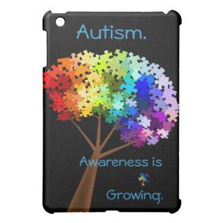 Autism Awareness Rainbow Puzzle Tree iPad Mini Cover