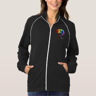 Autism Awareness Rainbow Puzzle Tree Jacket