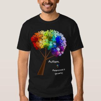 Autism Awareness Rainbow Puzzle Tree T-Shirt