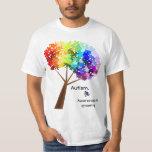 Autism Awareness Rainbow Puzzle Tree Tshirts