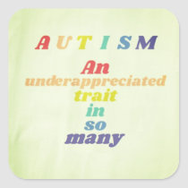 Autism Awareness Rainbow Stickers