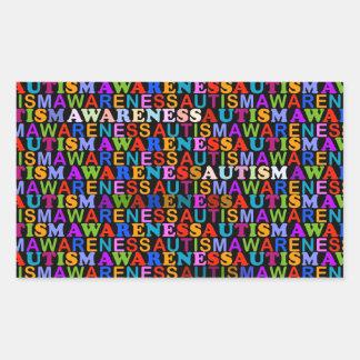 Autism Awareness Rectangular Sticker