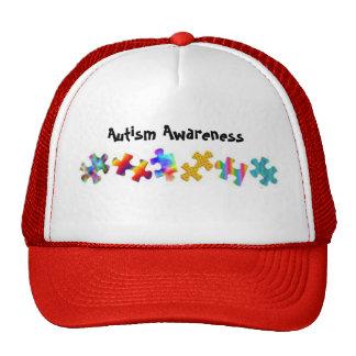 Autism Awareness (Red/White) Trucker Hats