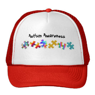 Autism Awareness (Red/White) Hats
