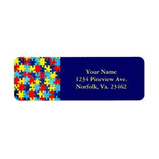 Autism Awareness Return Address Label