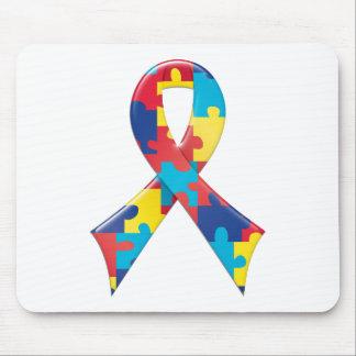 Autism Awareness Ribbon A4 Mouse Pad