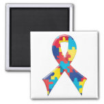 Autism Awareness Ribbon A4 Refrigerator Magnet