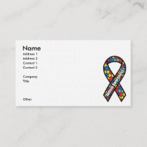Autism Awareness Ribbon Business Card
