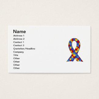 Autism Awareness  Ribbon Business Card