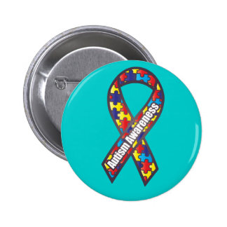 Autism Awareness Ribbon 2 Inch Round Button