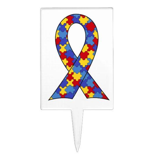 Autism Awareness  Ribbon Cake Topper