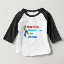 Autism awareness ribbon design baby T-Shirt