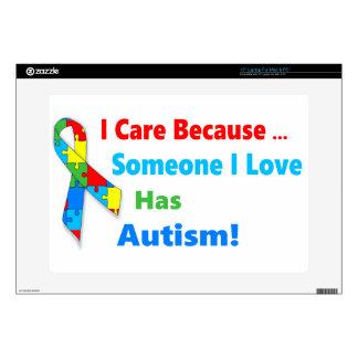 """Autism awareness ribbon design decal for 15"""" laptop"""