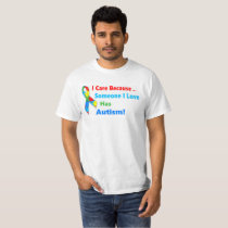 Autism awareness ribbon design T-Shirt