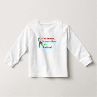 Autism awareness ribbon design toddler t-shirt