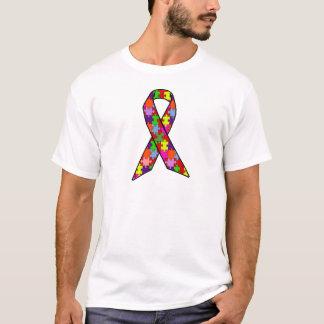 Autism Awareness Ribbon in Jigsaw Pattern T-Shirt