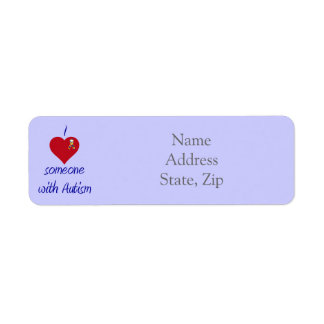 Autism Awareness Ribbon labels