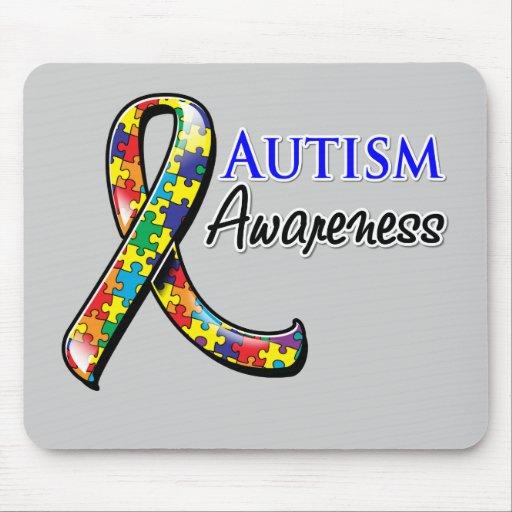 Autism Awareness Ribbon Mouse Pad