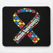 Autism Awareness Ribbon Mousepad
