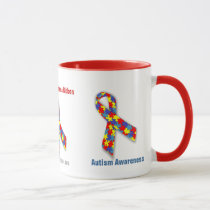Autism Awareness Ribbon Mug