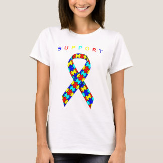 Autism Awareness Ribbon of Support T-Shirt