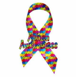 Autism Awareness Ribbon Standing Photo Sculpture