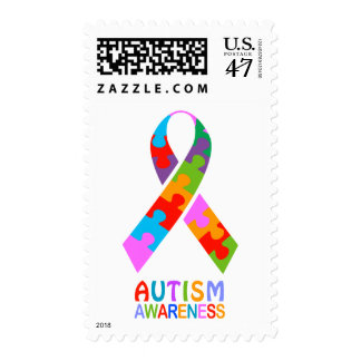 Autism Awareness Ribbon Postage