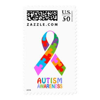 Autism Awareness Ribbon Postage