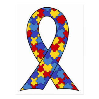 Autism Awareness Ribbon Postcard