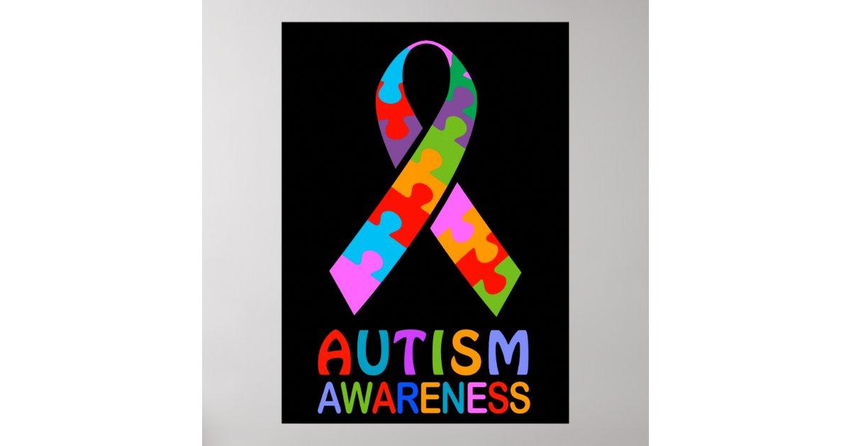 Autism Awareness Ribbon Poster | Zazzle