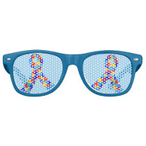 Autism Awareness Ribbon Retro Sunglasses